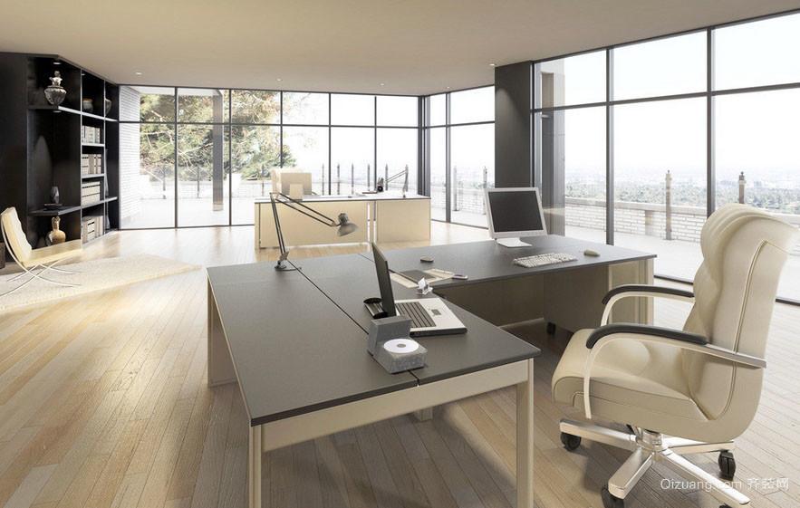 光线充足的简约时尚办公室装修设计图