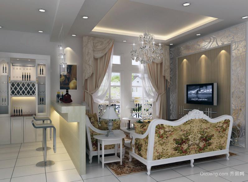2016小户型家装欧式客厅装修效果图鉴赏