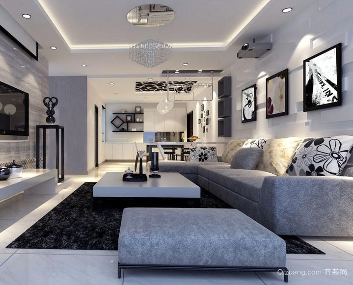 高冷范儿:后现代风格小户型家装客厅图片