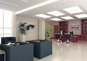 奢华有内涵的都市总经理办公室吊顶装修效果图