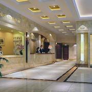 现代都市欧式酒店吊顶装修效果图实例欣赏