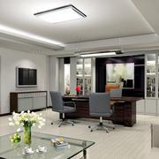 简单办公室现代化装修设计效果图