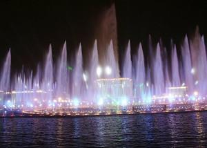 感染力:都市精致音乐喷泉设计效果图