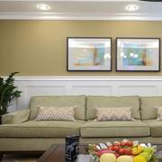 美式客厅简约装饰画