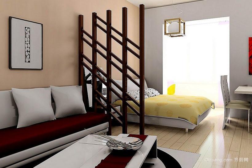 现代小户型一居室家装隔断效果图片