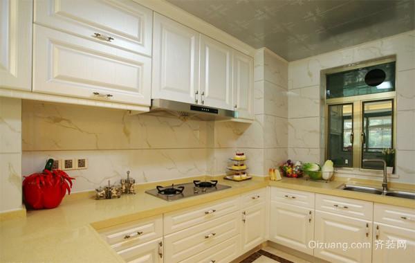 120平米大户型精致欧式厨房橱柜装修效果图
