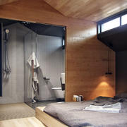 公寓卫生间玻璃门