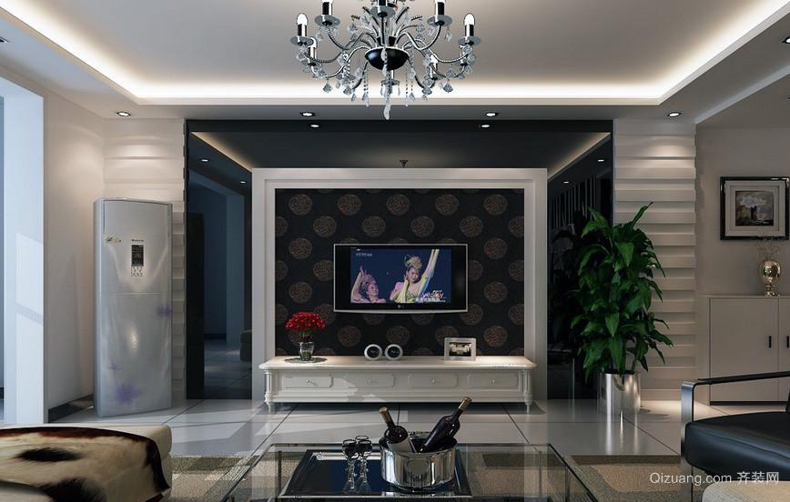 精美大户型欧式风格客厅电视背景墙装修效果图