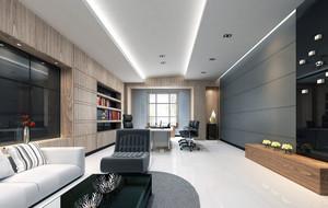 沉着冷静:现代办公室冷色调装修设计图