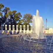 美丽街头的喷泉