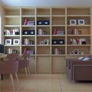 2016唯美大户型书房书柜装修效果图实例
