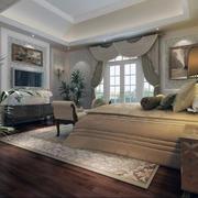 现代二居室经典欧式卧室背景墙装修效果图