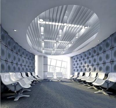 前卫时髦大型现代办公会议室装修设计图