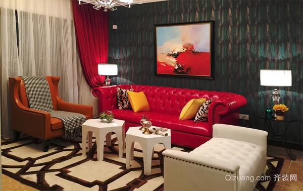 女王范儿:混搭风两居室家居装修设计图