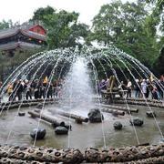 高级景区喷泉欣赏