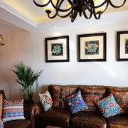 美式沙发背景装饰画