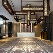 新中式宾馆大堂图片