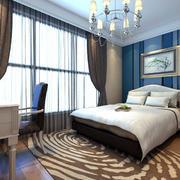 一室一厅单身公寓简欧浪漫小屋卧室布置图