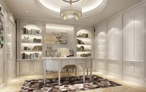 纯洁洁白的书房书柜