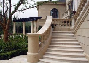 欧式大型别墅室外楼梯装修效果图