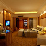 宾馆大型卧室图片