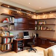 家居实木书柜展示