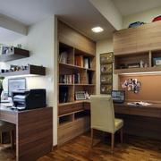 自然风味的书房书柜