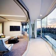 视野超好的住宅客厅欣赏