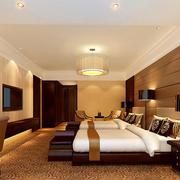宾馆温暖橙色卧室