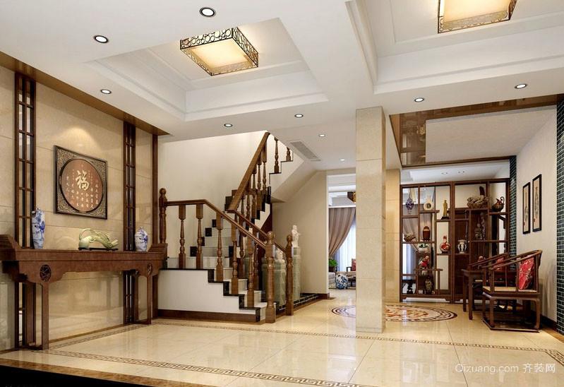 201平米跃层新中式家居楼梯装修效果图