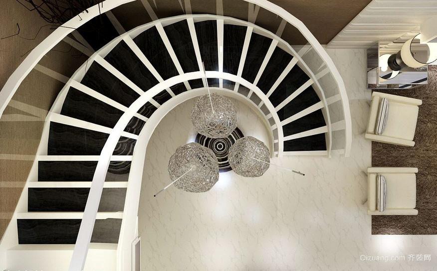 2016都市二层别墅时尚楼梯装修效果图