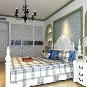 混搭欧式19平米卧室碎花墙纸图片大全
