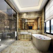 现代时尚欧式精品小户型小卫生间装修效果图