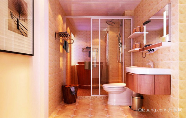70平米小户型欧式小卫生间吊顶装修效果图