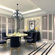 精美的欧式风格小户型餐厅装修效果图实例
