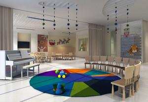 2016都市唯美的现代幼儿园教室装修设计效果图