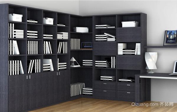 两室一厅朴素书柜装修效果图片大全