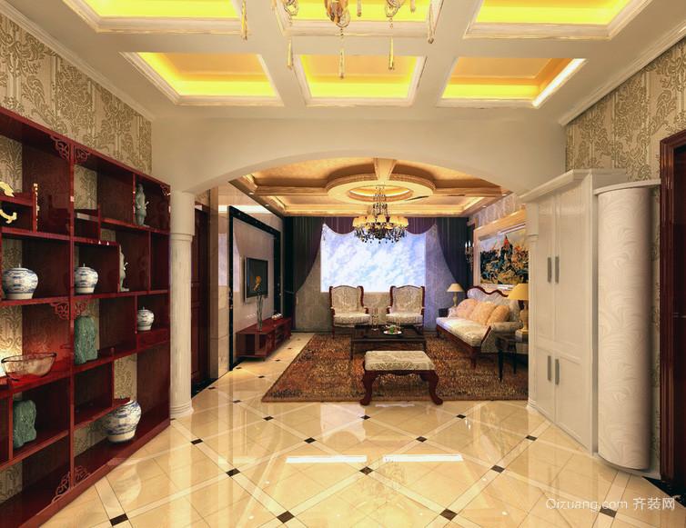 大户型欧式风格客厅样板间装修效果图鉴赏