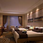 宾馆床头背景墙展示