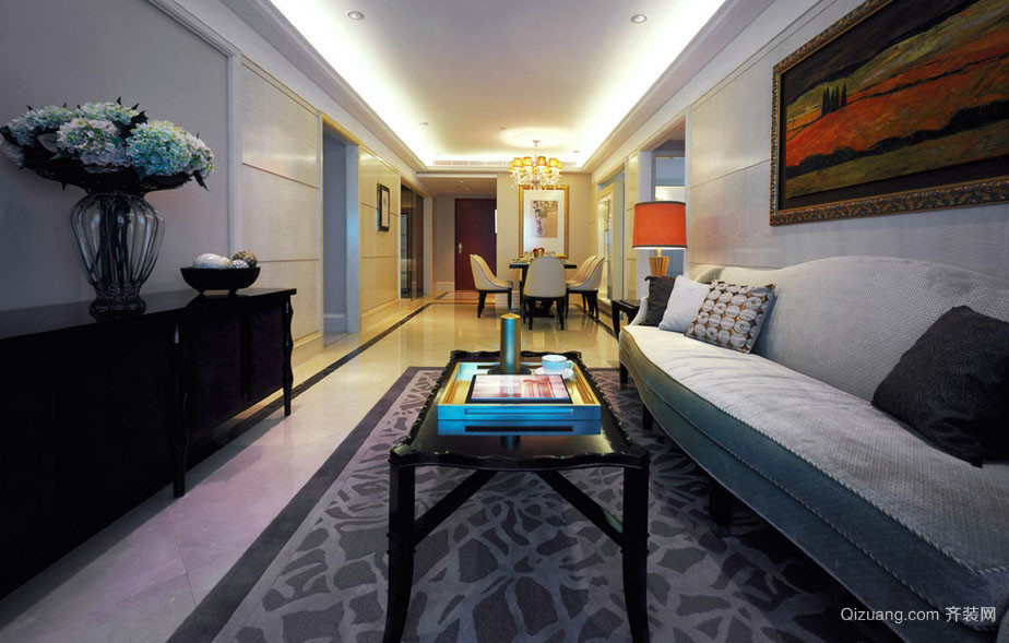 2016大户型简约公寓式高层住宅装修图