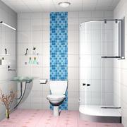 纯白色调卫生间设计