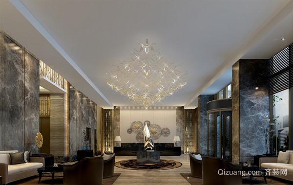 高级宾馆混搭风格大堂装修效果图