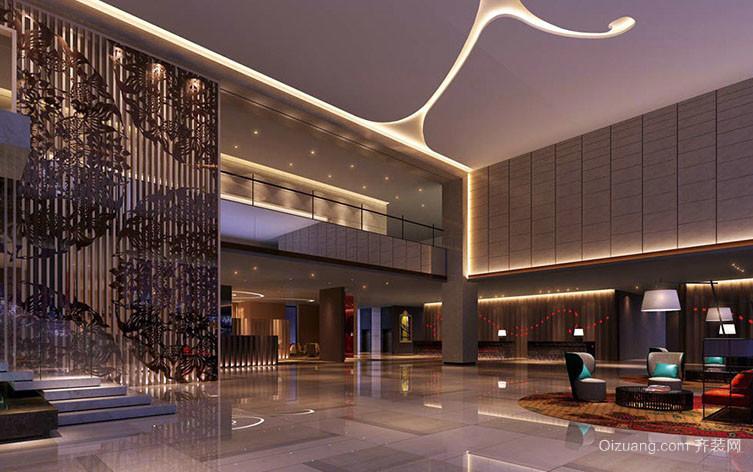 高级宾馆混搭风格大堂 装修 效果图
