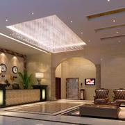 宾馆大堂前台设计