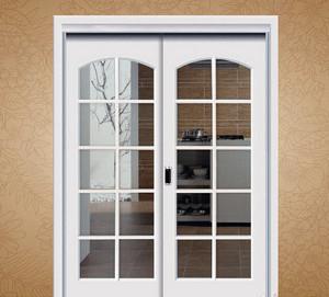 欧式风格大户型厨房推拉门装修效果图