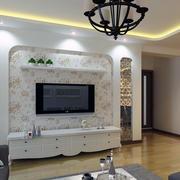 小户型现代简单室内电视墙装修效果图