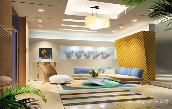 2016大户型欧式室内客厅吊顶装修设计效果图