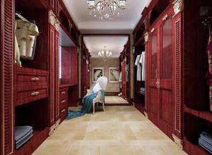 大型别墅衣帽间美式设计装修效果图