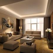 客厅舒适家具布置