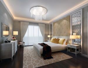 2016都市舒适宾馆卧室背景墙装修效果图实例